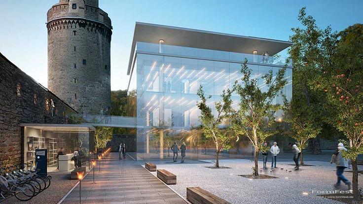3D Visualisierung Turm und Bürgerplatz Andernach, Bürgerplatz