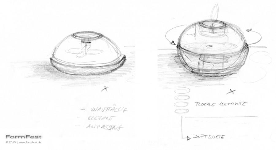 mosquito tabletop repellant, Skizze
