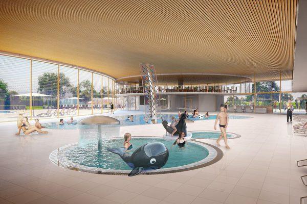Freizeitbad Kiel, Visualisierung innen, 3D