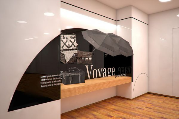 Mercedes-Benz Gallery, Paris, 3D, Visualisierung Innenraum