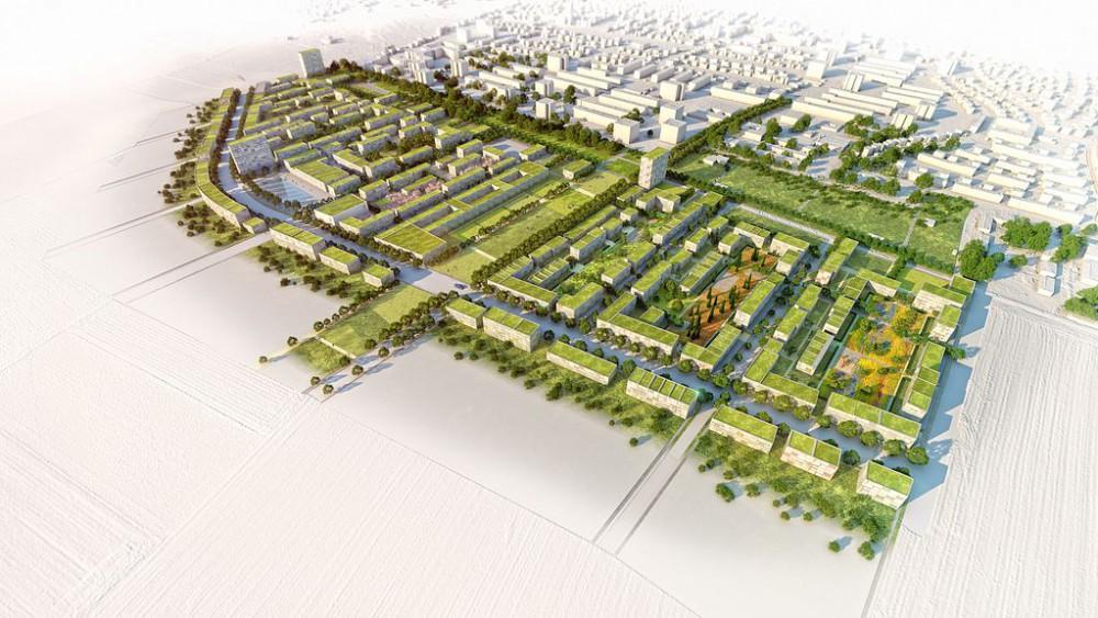 Städtebaulicher Wettbewerb, Freiham, München, Visualisierung, 3D