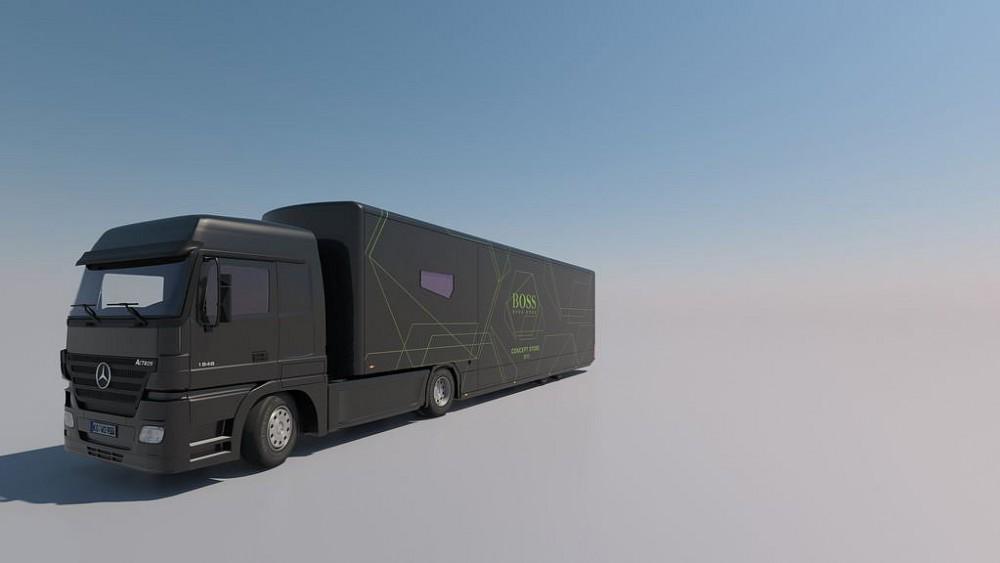 Promotruck Hugo Boss, 3D, Visualisierung