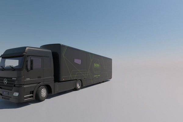 Promotruck Hugo Boss, 3D, Visualisierung