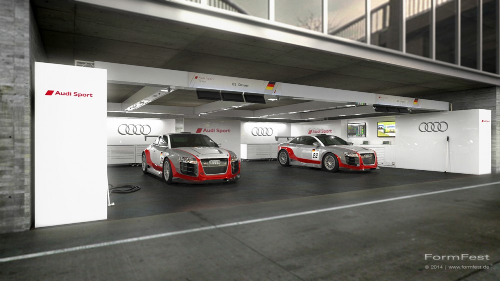 Box Audi, Visualisierung, Design, Event
