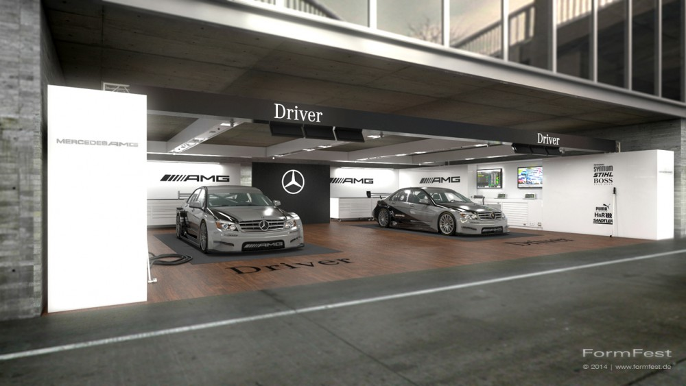 AMG Box Mercedes-Benz, Visualisierung, Design, Event