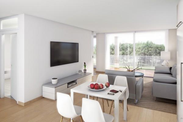 Mehrfamilienhaus Eckenstein, Visualisierung Innenraum