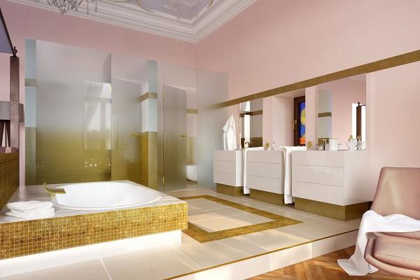 Villa Wiesbaden, Innenraum 3D Visualisierung