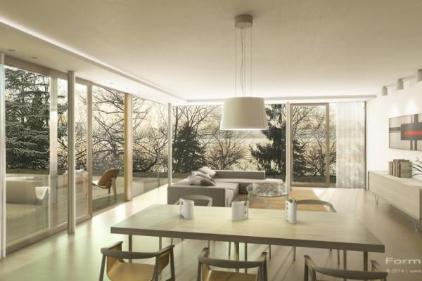 Mehrfamilienhaus Ammersee, Innenraum Visualisierung