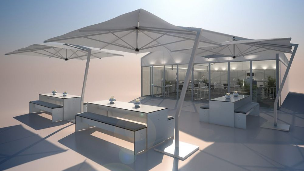 Mercedes GP Petronas Hospitality, Visualisierung, 3DMercedes GP Petronas Hospitality, Visualisierung, 3D