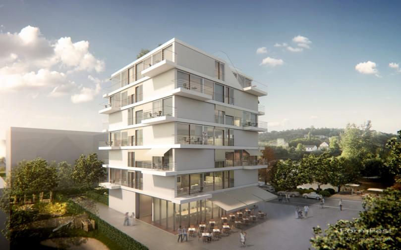 Wohn- und Geschäftsgebäude Tübingen Visualisierung