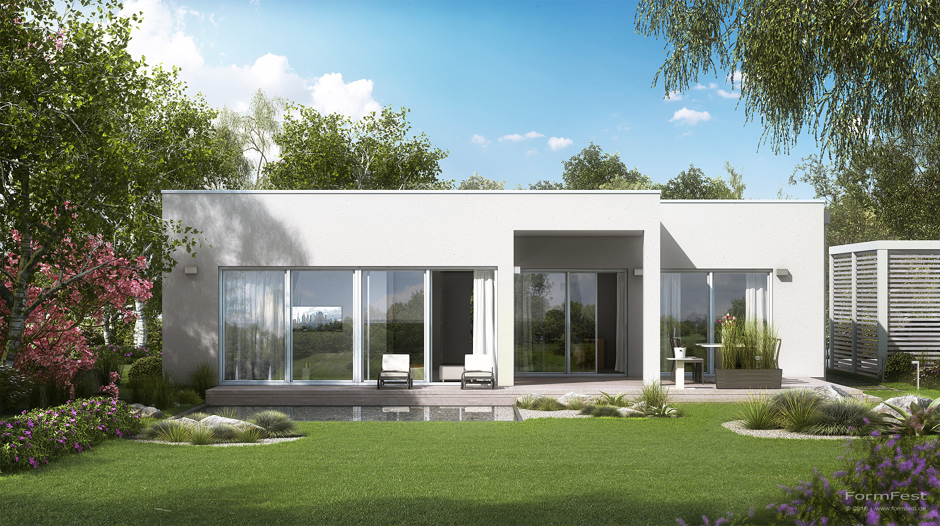 visualisierung kern haus formfest. Black Bedroom Furniture Sets. Home Design Ideas