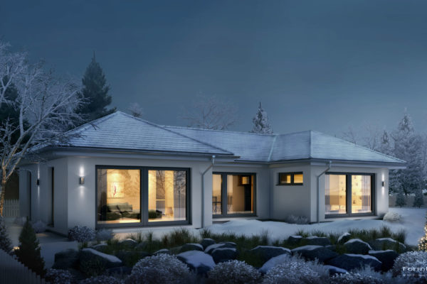 OKAL | Visualisierung Bungalow 170 Winter