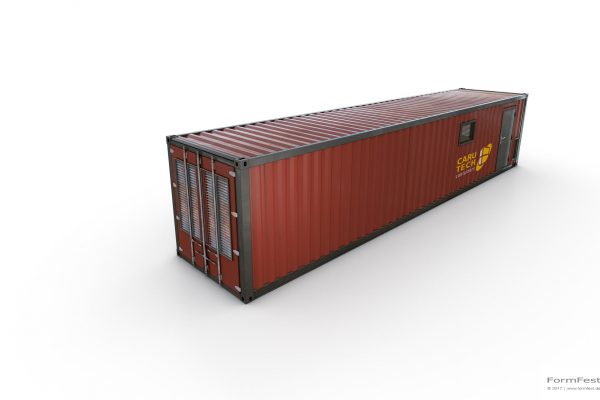 Tech-Con Caru-Tech Container Illustration Visualisierung Animation Rendering