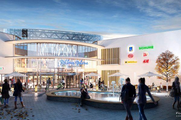Visualisierung; 3D; Rendering; ILG; Einkaufszentrum; EKZ; Dormagen; Entwurf; Illustration; Konzept; Skizze; Foto; Montage