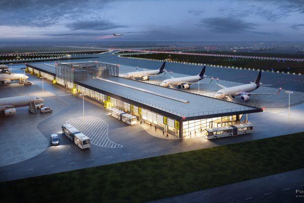 Visualisierung; 3D; Rendering; Goldbeck; Flughafen; Hamburg
