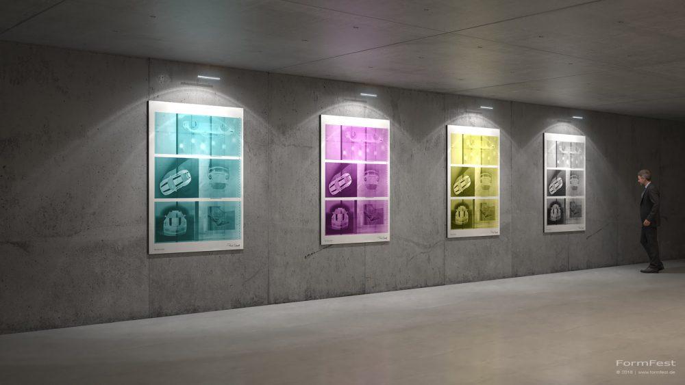 Visualisierung; 3D; Rendering; Porsche; Fotos; Druckplatten; Staud