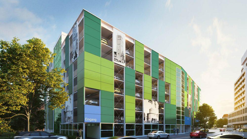 Visualisierung Goldbeck Parkhaus Delmenhorst