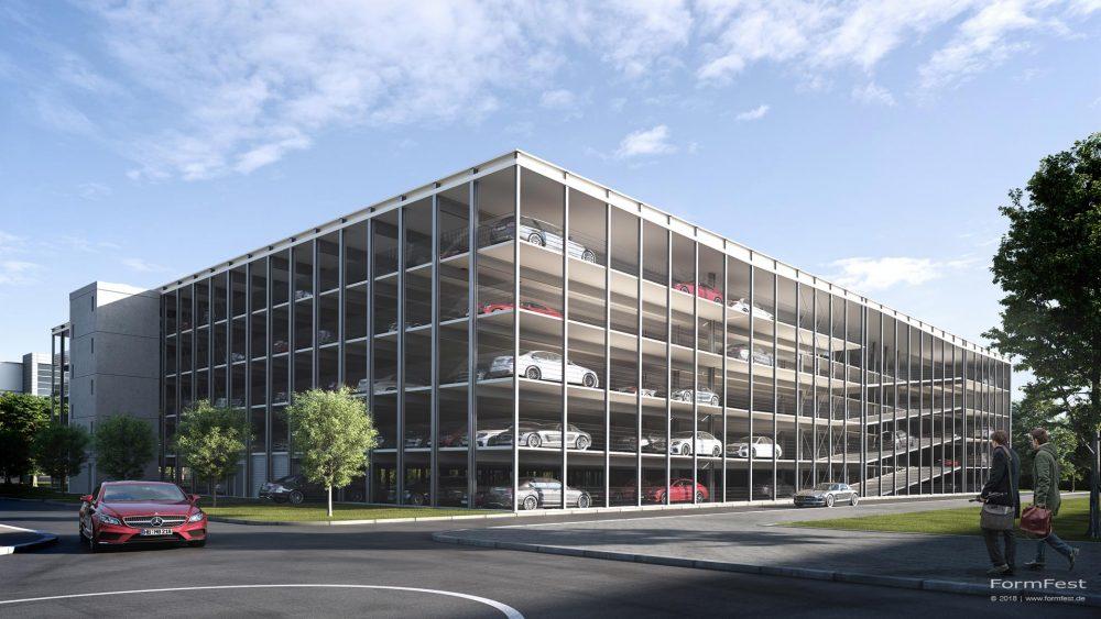 Visualisierung Goldbeck Parkhaus Daimler Bremen