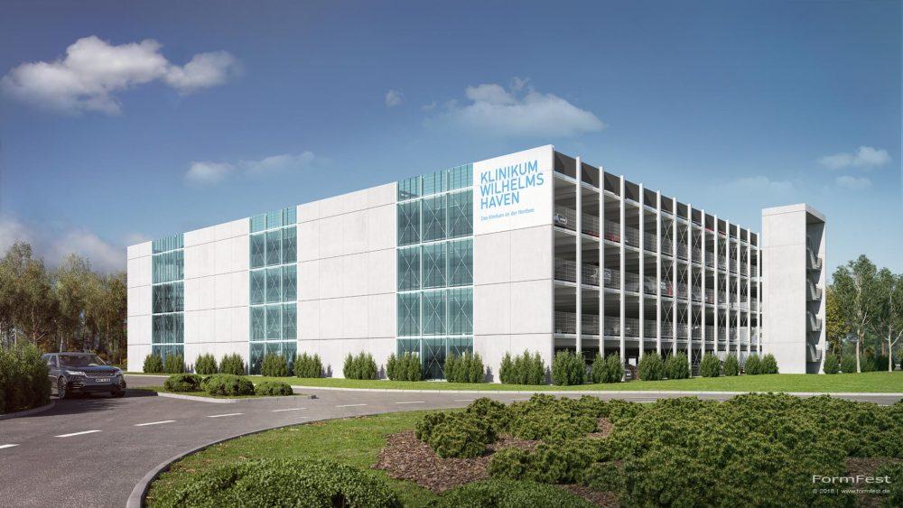 Visualisierung Goldbeck Parkhaus Klinikum Wilhelmshafen