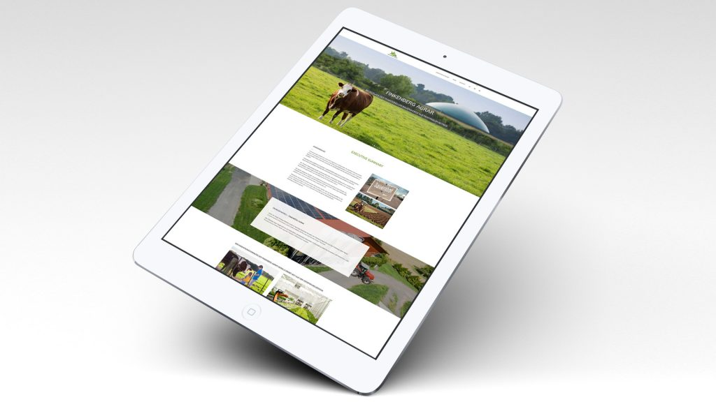 Finkenberg Agrar, Webseite