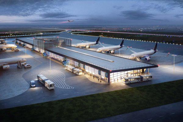 3D Visualisierung Goldbeck Flughafen Hamburg