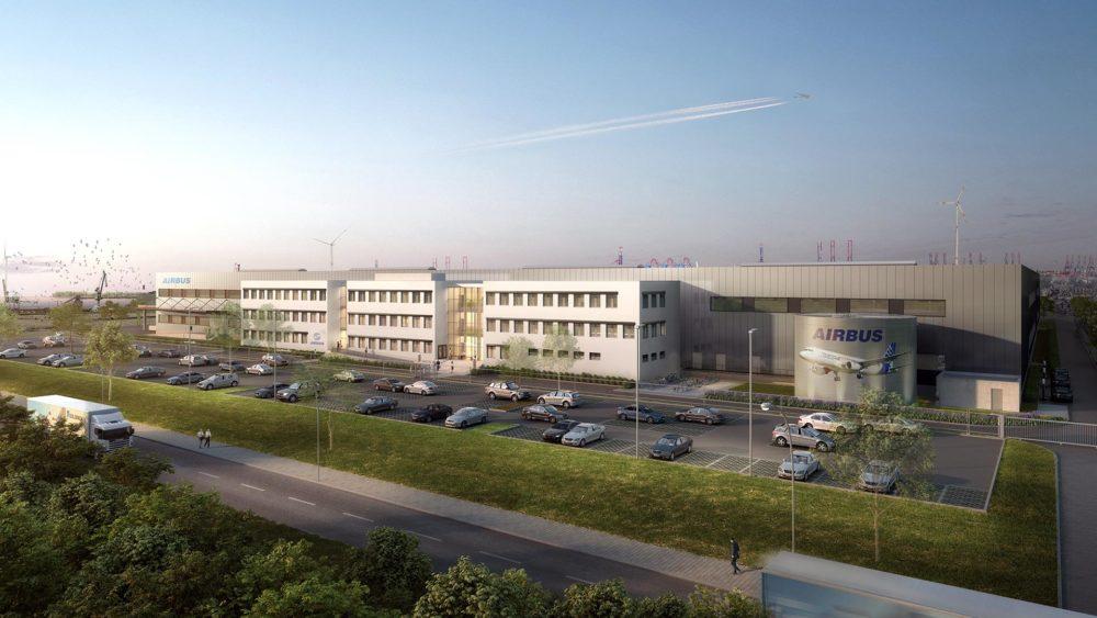 Goldbeck, Hamburg Airbus, Bürogebäude, Halle, 3D Visualisierung