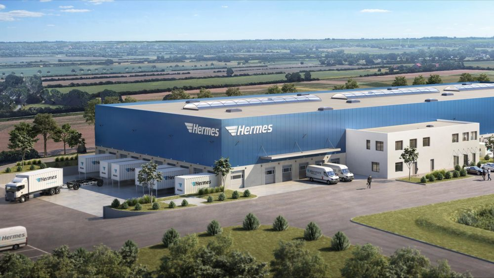 3D Visualisierung Goldbeck, Hermes, Weyhe, Logistikzentrum