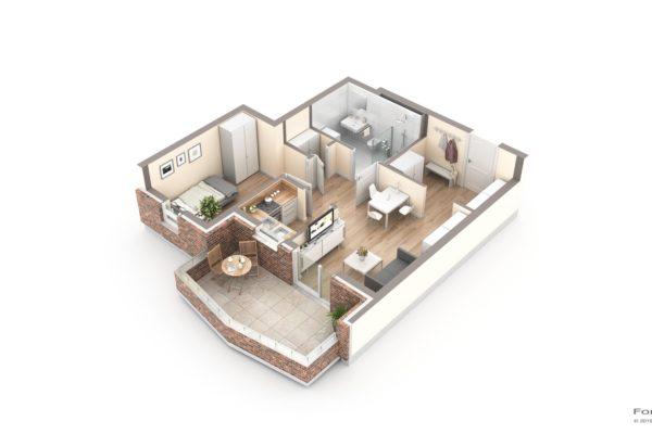 Visualisierung 3D Grundrisse, Luisenhof, Bad Zwischenahn