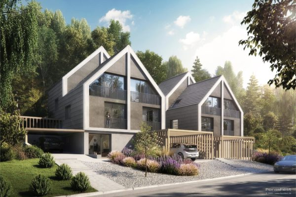 3D, Visualisierung, KR Häuser GmbH, Doppelhäsuer Landsberg