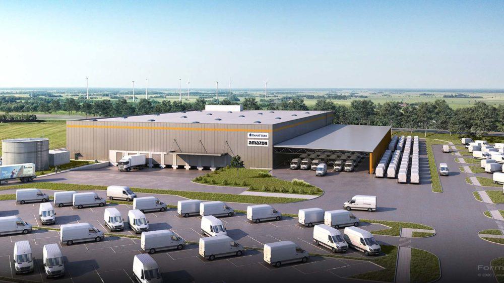 3D Visualisierung Goldbeck, Amazon Industriehalle